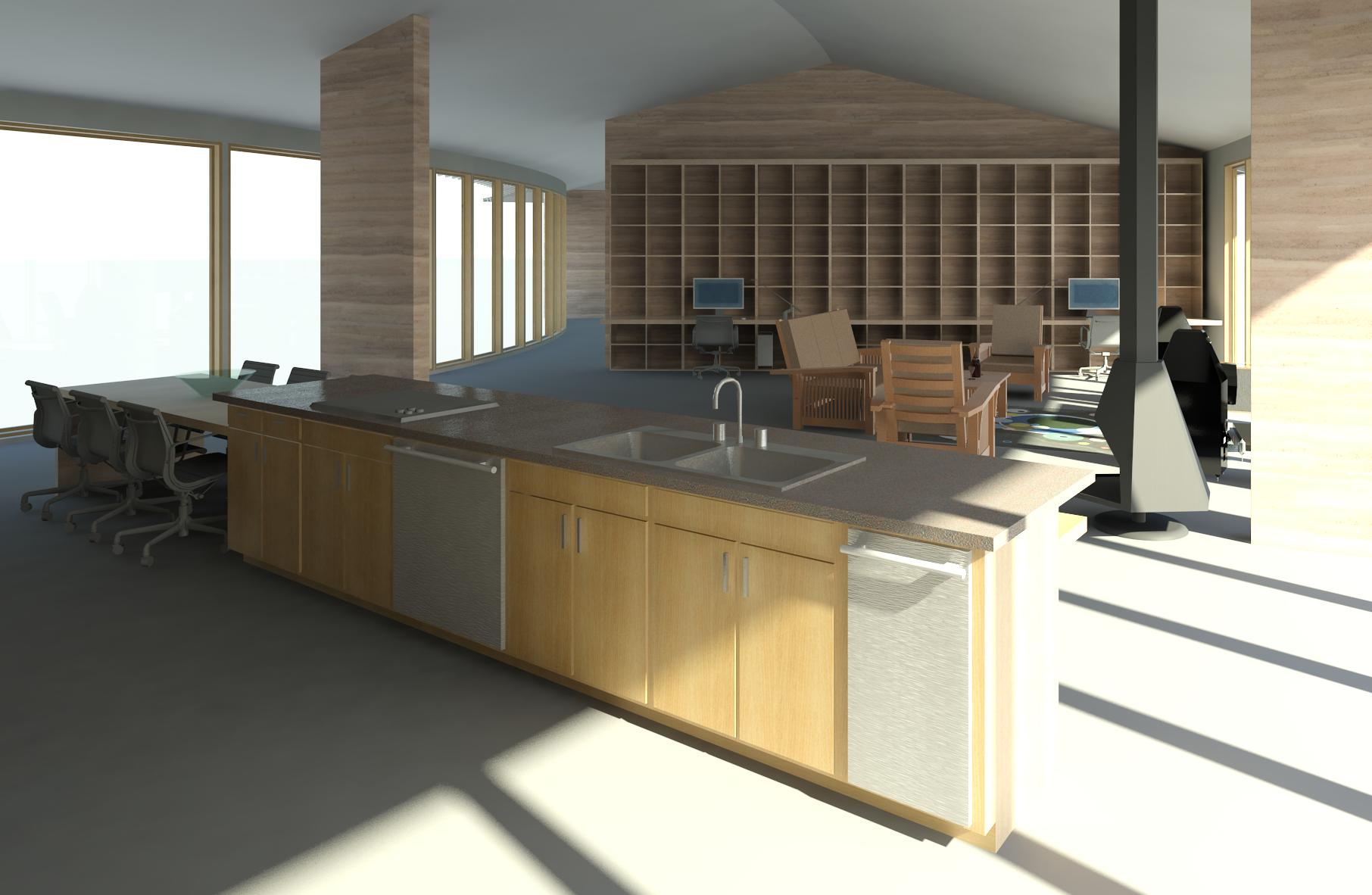 Arc ii project renderings ashelford consulting for Kitchen set revit