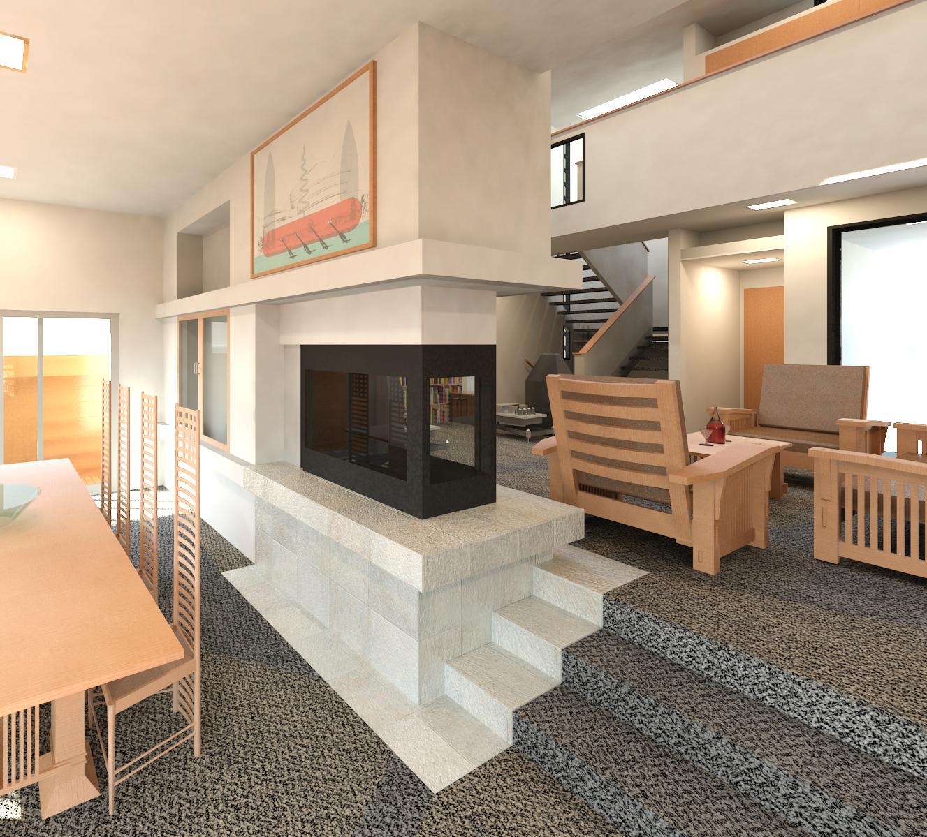 Living Room Restaurant Kuching: John Lautner's Harpel Residence Renderings