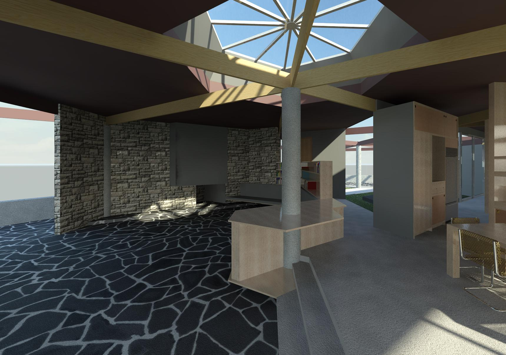 John Lautner's Harpel Residence Renderings | Ashelford Design